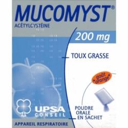 Mucomyst poudre orale 200mg 18 sachets de 3,5g