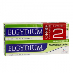 Elgydium protection caries lot de 2 x 75 ml