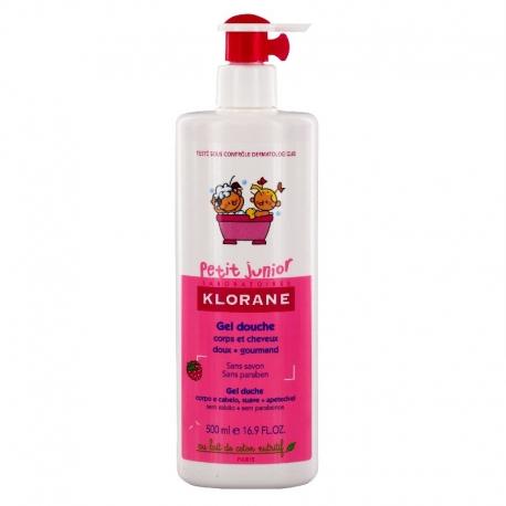 Klorane petit junior gel douche corps cheveux framboise 500ml