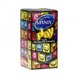 Mani play préservatifs avec réservoir x16