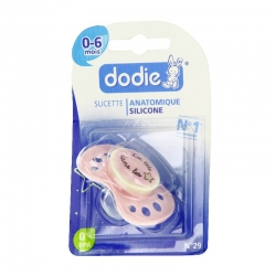 Dodie sucette silicone nuit 0-6 mois n°29