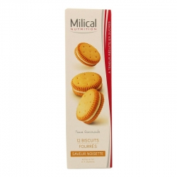 Milical nutrition saveur noisette 12 biscuits