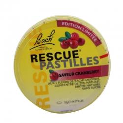 Elixir & co fleur de bach rescue pastilles saveur cramberry 50g