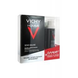 Vichy Homme Sensi Baume Baume Après-Rasage Apaisant 75 ml + Mousse de Rasage Offerte