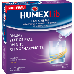 Humex lib état grippal 8 sachets