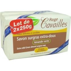 Rogé Cavaillès Savon Surgras Extra-doux Amande Verte Lot de 2x250g