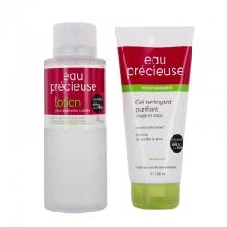 Eau precieuse coffret lotion 375 ml + gel nettoyant 150ml