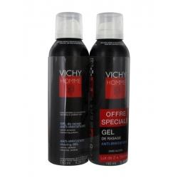 Vichy homme gel de rasage anti-irritations 150ml x2