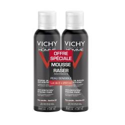 Vichy homme gel de rasage anti-irritations 200ml x2