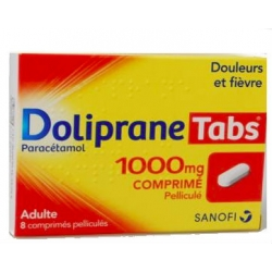 Dolipranetabs 1000 mg 8 Comprimés Pelliculés