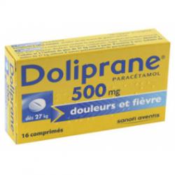 Dolipranetabs 500 Mg 16 Comprimés Pelliculés