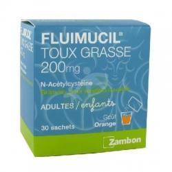 Fluimucil 200mg granulé pour solution buvable 30 sachets
