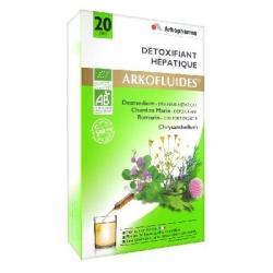 Arkopharma arkofluides détoxifiant hépatique 20 ampoules