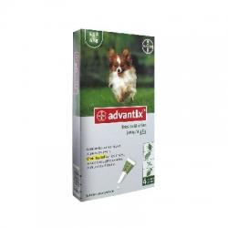 Bayer advantix très petit chien jusqu'à 4kg 4 pipettes