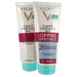 Vichy Pureté Thermale Démaquillant Intégral 3 en 1 Lot de 2 x 300 ml