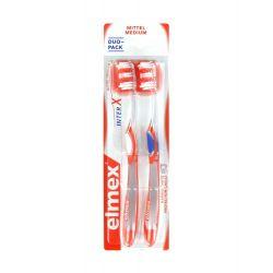 Elmex Protection Caries Brosse à Dents InterX Medium Duo Pack