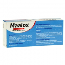 Maalox maux d'estomac sans sucre fruits rouges 40 comprimés
