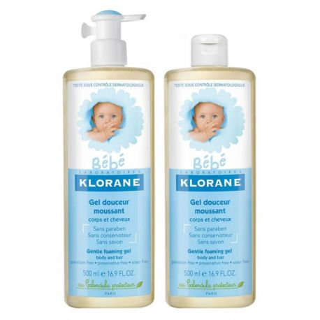 Klorane bb gel douch corps-ch duo 2X500ml