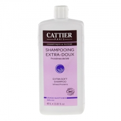 Cattier shampooing extra doux usage quotidien 1 litre