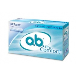 O.b pro comfort light days 16 tampons