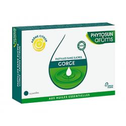 Omega pharma phytosun aroms esculape pastilles gorge citron x 24