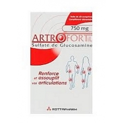 Rottapharm artrofortil 750mg 60 comprimés